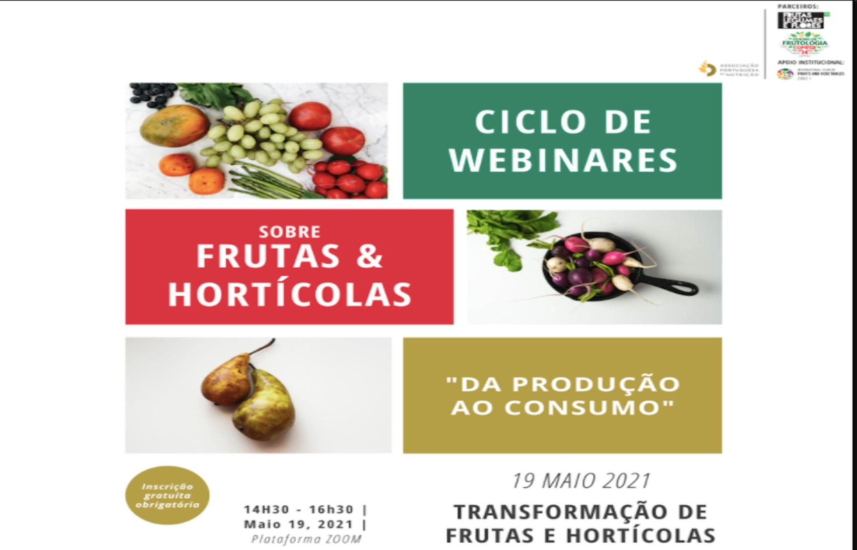 Ciclo de Webinares sobre Fruta e Hortícolas: Transformação de Frutas e Hortícolas - APN